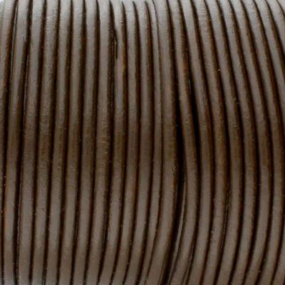 Rundriemen, Lederschnur, 100cm, 3mm, TERRABRAUN