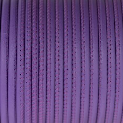 Premium Nappaleder rund gesäumt, 100cm, 4mm, VEILCHENVIOLETT