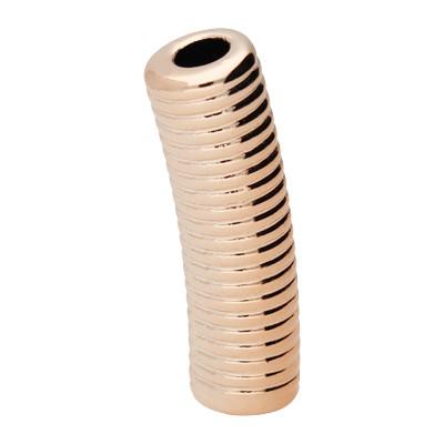 Stäbchen, innen 4,5mm, 33x10mm, roségoldfarben, Acryl