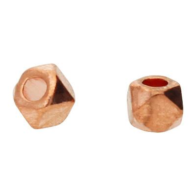 Perle (2 Sück), innen 1,2mm, 3,5x2,5mm, roségoldfarben, Metall