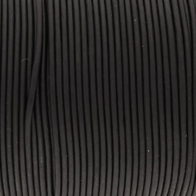 Rundriemen, Lederschnur, 100cm, 2mm, SCHWARZ VINTAGE