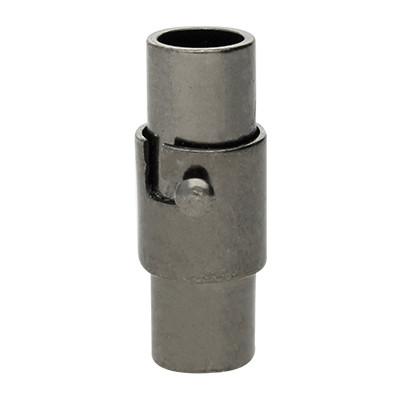 Magnetverschluss, 4mm, 15x6mm, Metall, schwarz