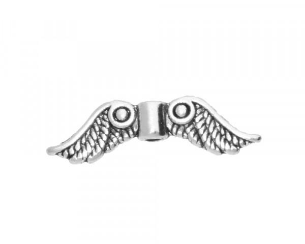 Perle, Flügel, 23x3mm, Loch Ø 1.5mm, antik silberfarben, Metall