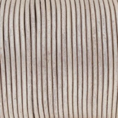 Rundriemen, Lederschnur, 100cm, 2mm, METALLIC TAUPE