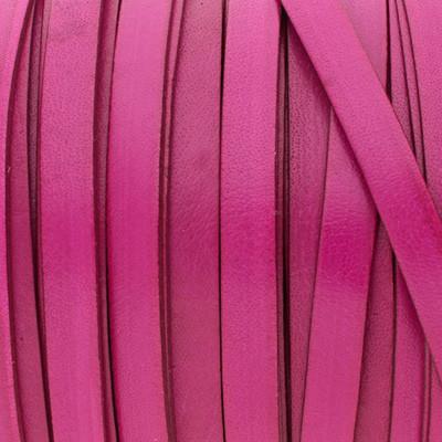 Flachriemen Rindsleder, 100cm, 10x1,5mm, PINK