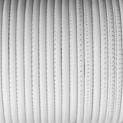 Nappaleder rund gesäumt, 100cm, 4mm, WEISS