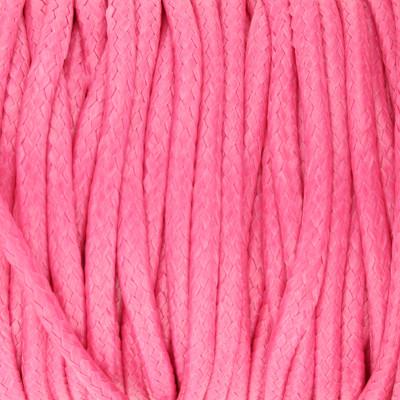 Gewachstes Schmuckband aus Baumwolle, 100cm, 2mm breit, BEERE