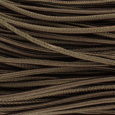 Nappaleder rund gesäumt, 100cm, 4mm, METALLIC BRONZE MATT