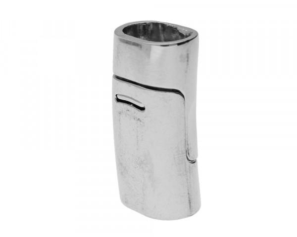 Magnetverschluss, 25x13x10mm, 10,5x6,5mm, Metall, platinfarben