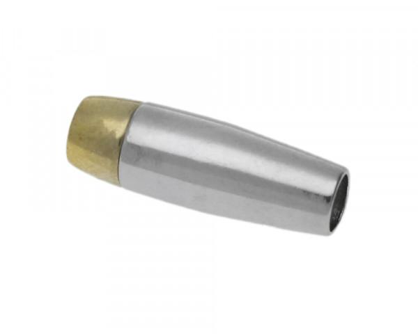 Magnetverschluss, 5mm, 22x5mm, Metall, gold- & silberfarben