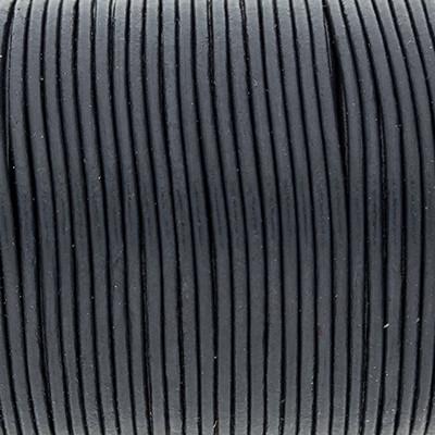 Rundriemen, Lederschnur, 100cm, 1,5mm, GRAUBLAU