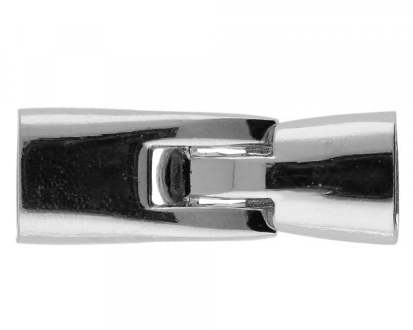 Armbandhaken-Verschluss, innen ca. 10x5mm, 36x12mm, Metall, platinfarben