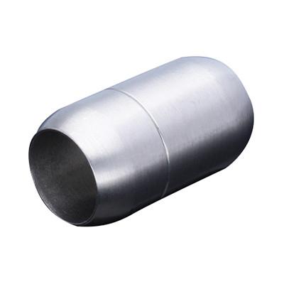 Magnetverschluss, 10mm, 25x14mm, Edelstahl, matt, silberfarben