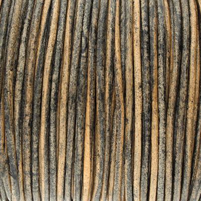 Rundriemen, Lederschnur, 100cm, 1,5mm, VINTAGE FOSSIL
