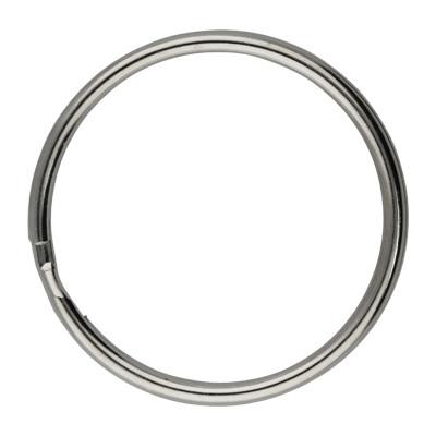 Schlüsselring, Spiralring, rund, 1 Stück, 35x3mm,silberfarben, Metall