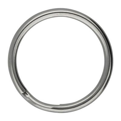 Schlüsselring, Spiralring, rund, 1 Stück, 16x2mm, Edelstahl
