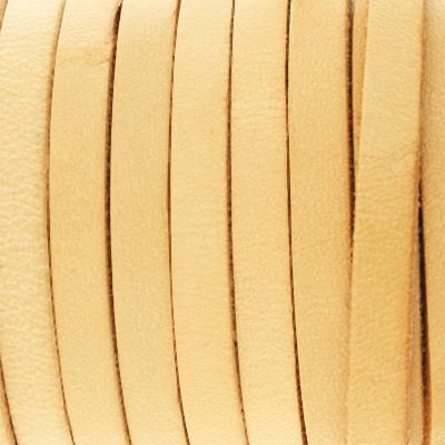 Flachriemen Rindsleder, 100cm, 5x2,5mm, NATUR