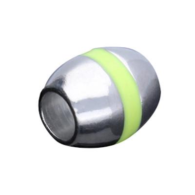 Magnetverschluss mit Emaille, 5mm, 11x9,5mm, Metall platinfarben