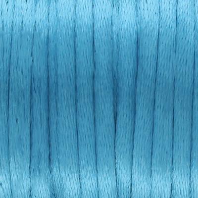 Satinband, Satinkordel, rund (100cm), 2,0mm breit, azurblau