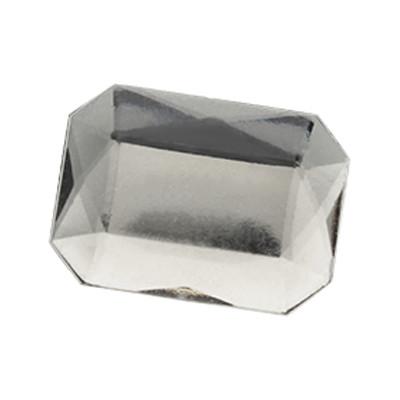 Cabochon, eckig, 3 Stück, 18x13mm, kristall, glatte Rückseite