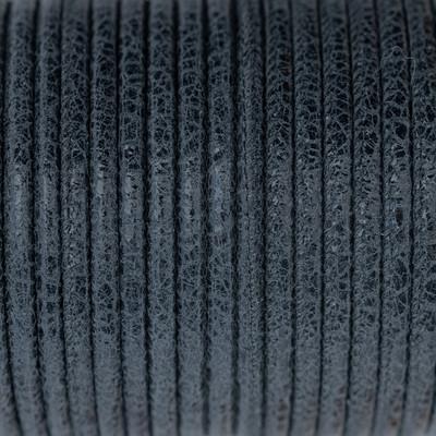 Nappaleder rund gesäumt, 100cm, 4mm, GRAPHITMARMOR