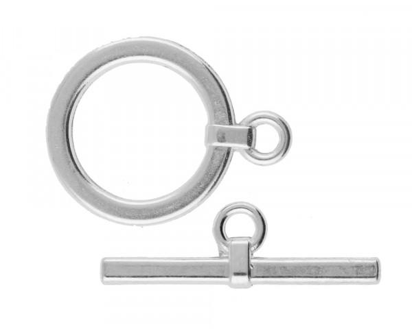 Knebelverschluss silberfarben antik - 22 x 29 mm | 10 x 32 mm
