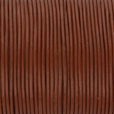 Rundriemen, Lederschnur, 100cm, 2mm, NUSSBRAUN