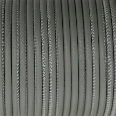 Premium Nappaleder rund gesäumt, 100cm, 4mm, STEINGRAU