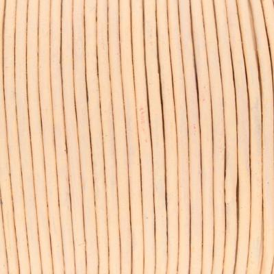 Rundriemen, Lederschnur, 100cm, 1,5mm, ROSÉ CHAMPAGNER