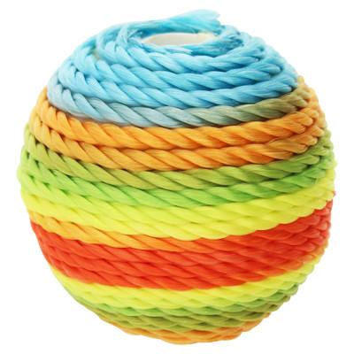 Großlochperle, innen 3mm, Ø 22mm, multicolor, Baumwolle