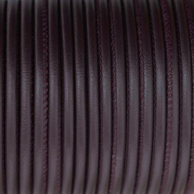 Premium Nappaleder rund gesäumt, 100cm, 2,5mm, BORDEAUX