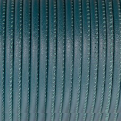 Premium Nappaleder rund gesäumt, 100cm, 4mm, PETROL