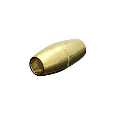 Magnetverschluss, 4mm, 16x7mm, Metall, goldfarben