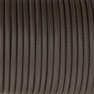 Premium Nappaleder rund gesäumt, 100cm, 4mm, DUNKELTAUPE