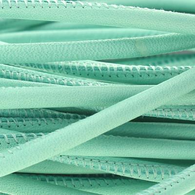 Nappaleder rund gesäumt, 100cm, 4mm, PASTELL GRÜN