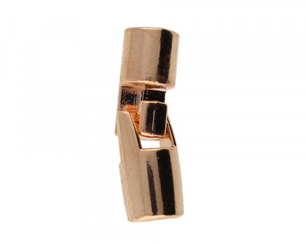 Armbandhaken-Verschluss, 27X8mm, innen 5mm, Metall, roségoldfarben