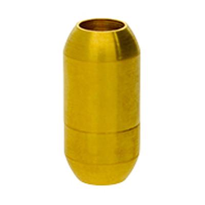 Magnetverschluss, 5mm, 18x9mm, Edelstahl matt, gold