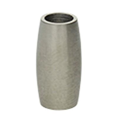 Magnetverschluss, 4mm, 13x7mm, Edelstahl, silberfarben matt