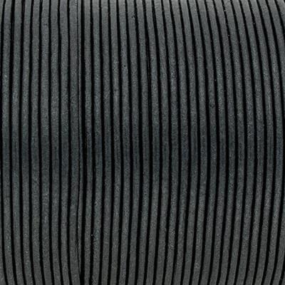 Rundriemen, Lederschnur, 100cm, 1,5mm, METALIC MOONLESS NIGHT