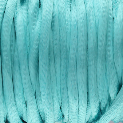 Satinband, Satinkordel, rund (100cm), 2,5mm breit, pastell grün