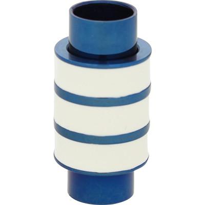Magnetverschluss, 6mm, 20x10mm, Edelstahl, blau-weiß