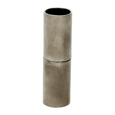 Magnetverschluss, 6mm, 24x7mm, Metall, schwarz