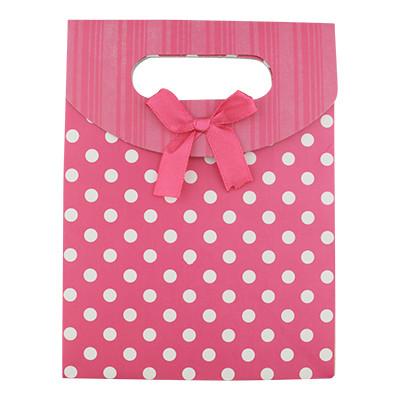 "Geschenkverpackung ""Polkadots"", 16,6 x 12,5 x 6cm - PINK"