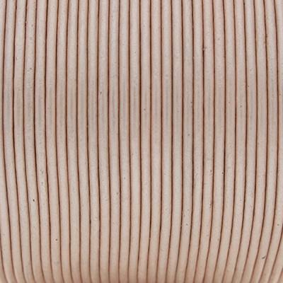 Rundriemen, Lederschnur, 100cm, 1,5mm, METALLIC CAMEO ROSE