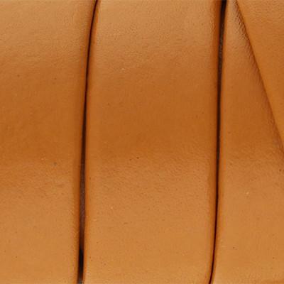 Flachriemen aus Nappaleder beidseitig, 10x2mm, 100cm, COGNAC