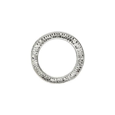 Ring, rund, 1 Stück, 18x2mm, Metall, silberfarben