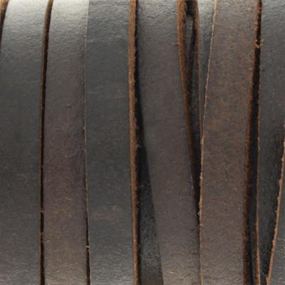 Flachriemen, Rindsleder, ca. 5,0 x 3,5 mm, DUNKELBRAUN