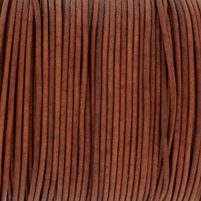 Rundriemen, Lederschnur, 100cm, 1,5mm, VINTAGE TANDORI SPICE