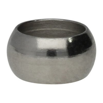 Ring, rund, 1 Stück, 6x3,2mm, innen 4,5mm, Edelstahl, silberfarben