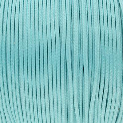 Gewachstes Schmuckband aus Baumwolle, 100cm, 1,5mm breit, MEERESBLAU